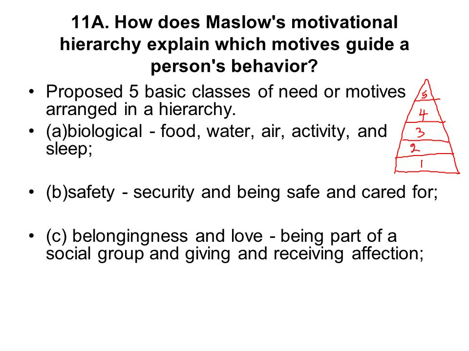 how do social needs motivate behavior He identified three motivators that he believed we all have: a need for achievement, a need for affiliation, and a need for power people will have different.