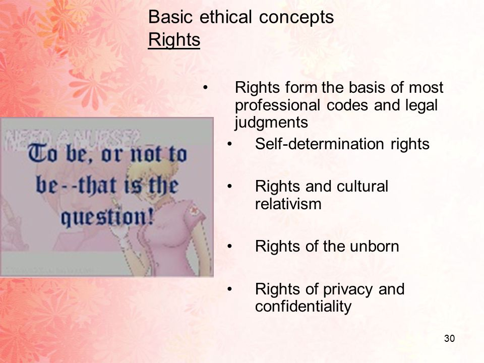 ethical rights It is therefore important to agree upon standards of expected ethical behavior find information about how to publish ethically under the ethics topic on elsevier researcher academy.