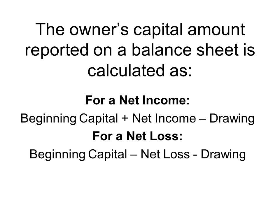 a balance sheet