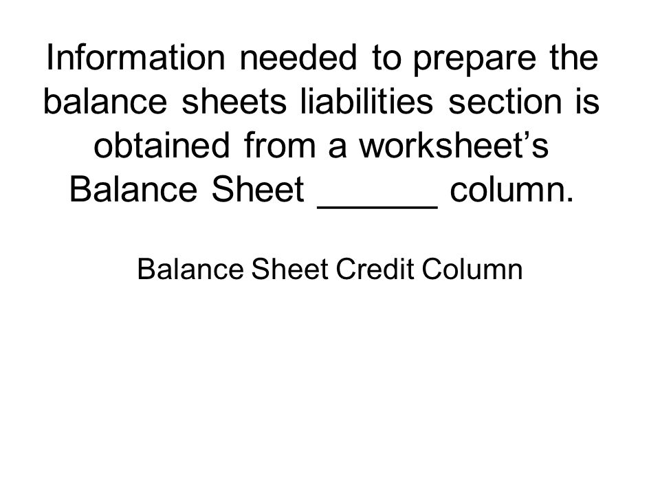 A balance sheet has 4 sections They are ppt download – Prepare a Balance Sheet