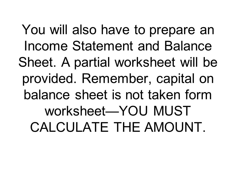 A balance sheet has 4 sections They are ppt download – Prepare Balance Sheet