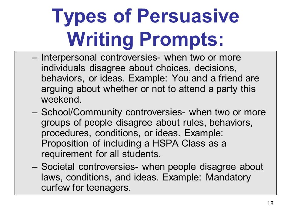 Methods of persuasion in writing