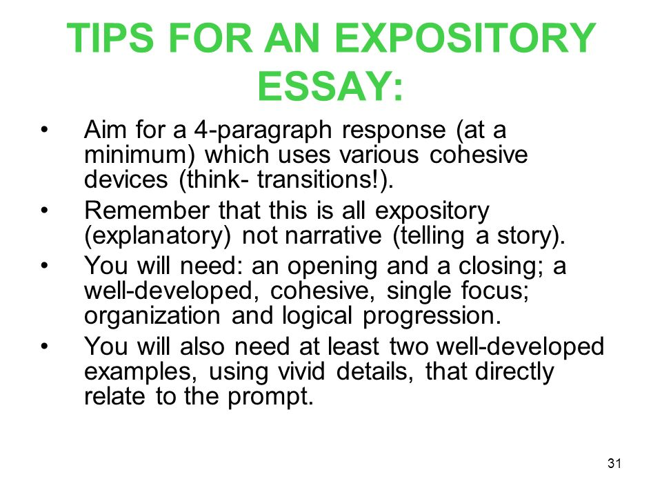 Tips to write an expository essay
