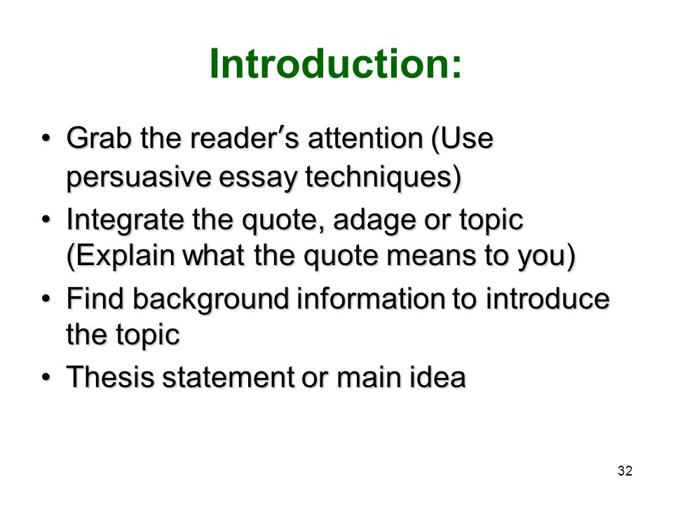 3 techniques use persuasive essay