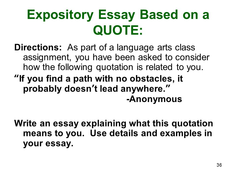 How to write an admission essay based on a quote