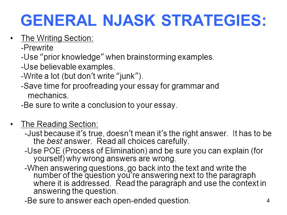 nj ask explanatory essay rubric New jersey assessment of knowledge and skills (nj ask) use details and examples in your essay nj ask holistic scoring rubric.