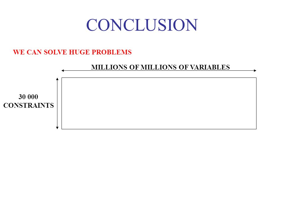 CONCLUSION WE CAN SOLVE HUGE PROBLEMS