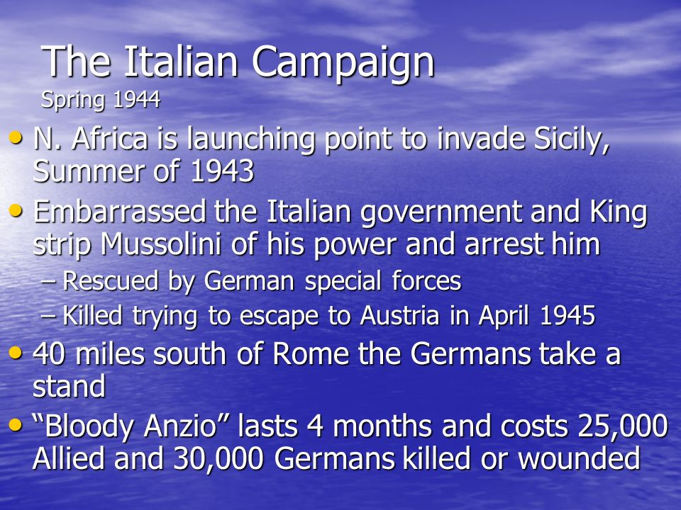 The Italian Campaign Spring 1944