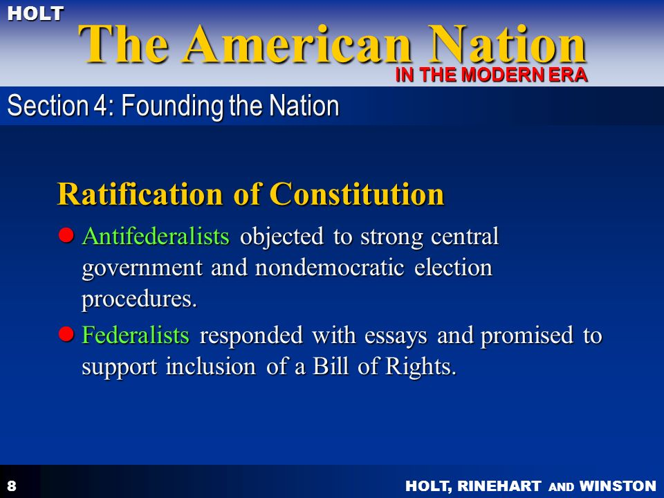 essay urging ratification new york