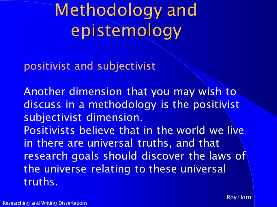 methodology in a dissertation Key points to remember when writing the methodology chapter for your dissertation.