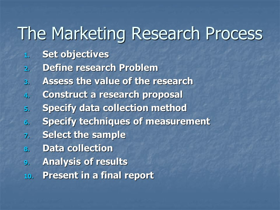 define research process