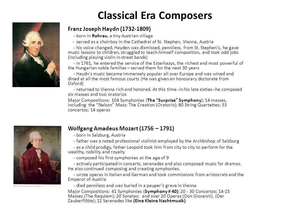 Classicism & Classical Music - Arkansas Tech University