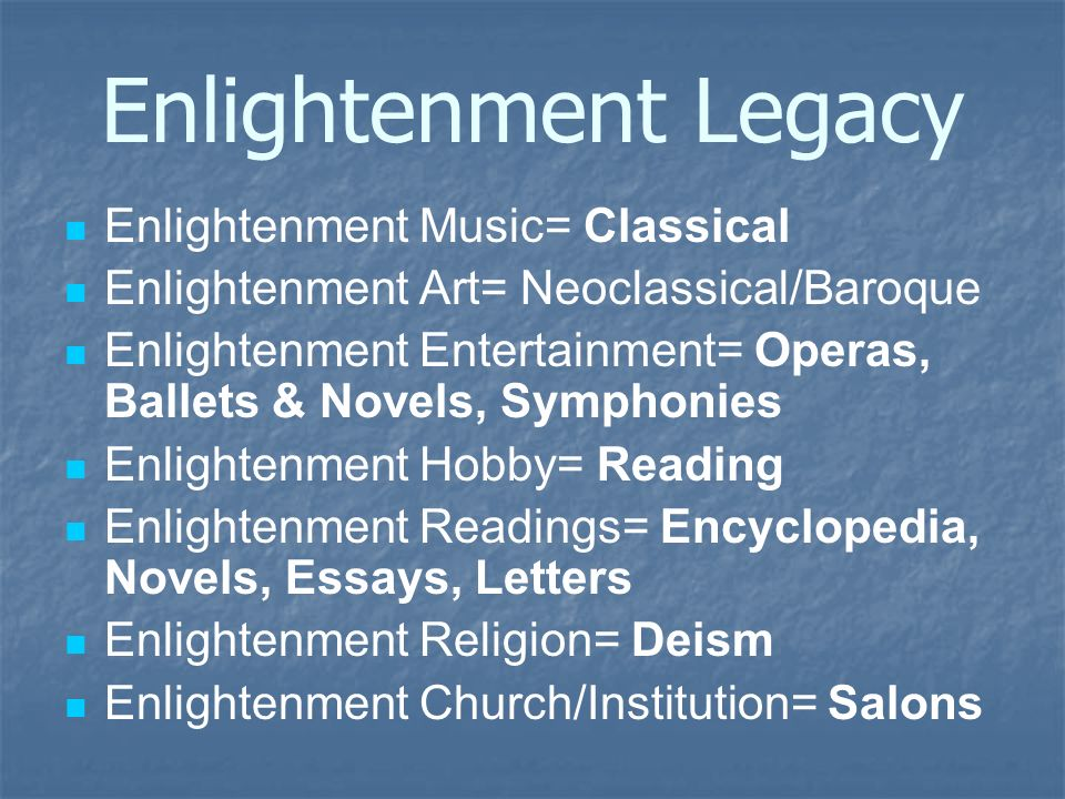 enlightenment essays Comparison of the renaissance and enlightenment essay renaissance means 'rebirth' or 'recovery', has its origins in italy and is associated with the rebirth of antiquity or greece-roman civilization.