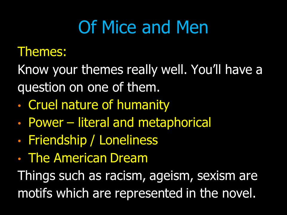 I'm Not a Tart: The Feminist Subtext of Steinbeck's Of Mice and Men