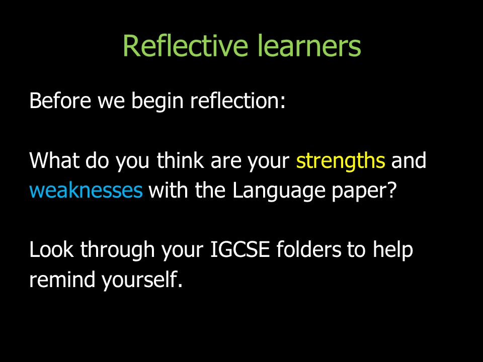 reflection paper language Reflection and summary of the esl  esl learners come to school with a virtual backpack- that backpack is filled with all sorts of existing language.
