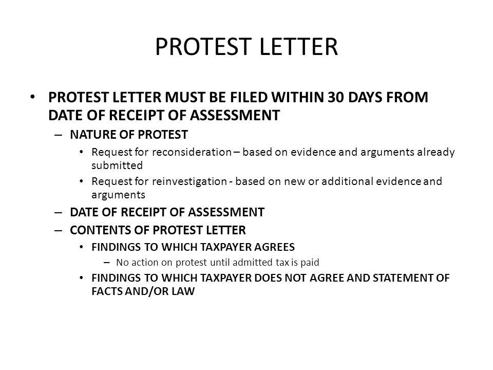 how to end a letter of protest