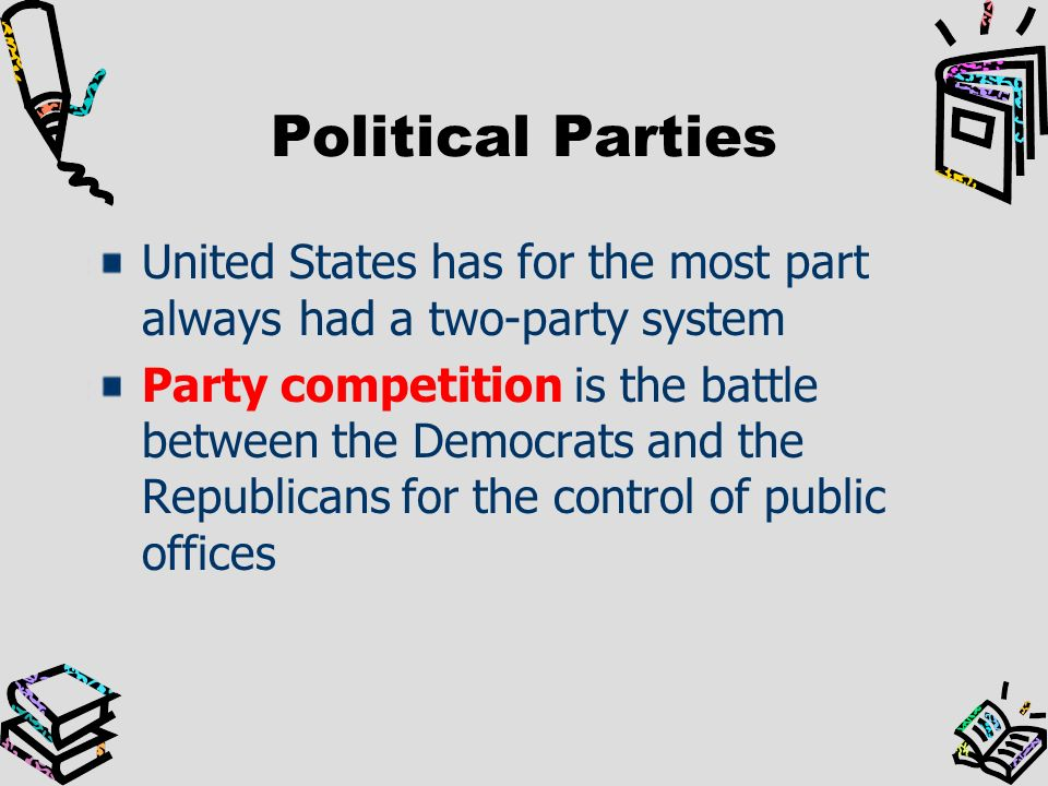 an examination of the political parties of the united states Ethel wood ap us government review placement program established a curriculum and examination for united states government in the political parties.