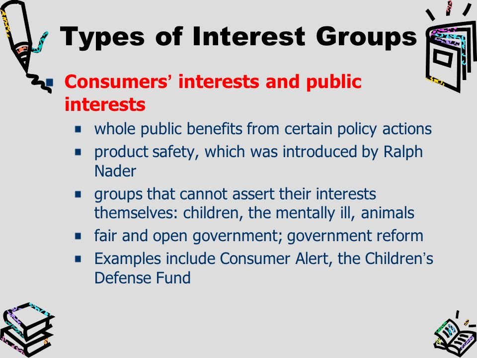 Influence of interest groups on policy-making
