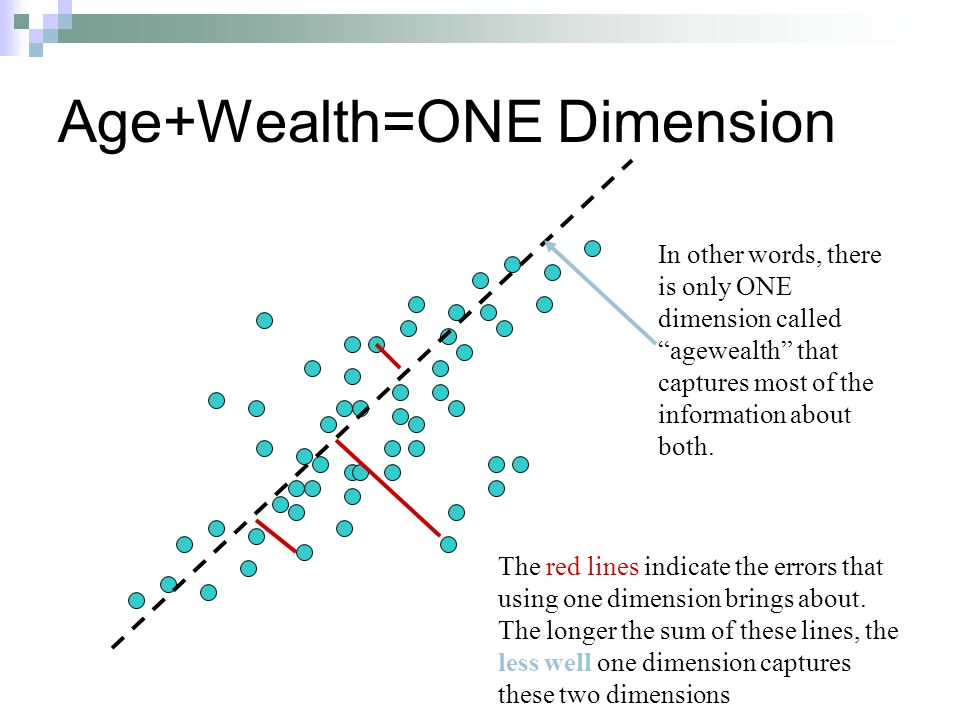 Age+Wealth=ONE Dimension