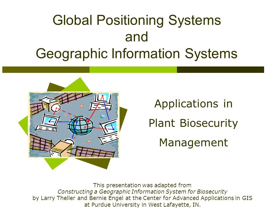 global positioning systems and geographic information 3 survey, professional licensure and use of gps the global positioning system (gps) and geographic information systems (gis) have been a great.