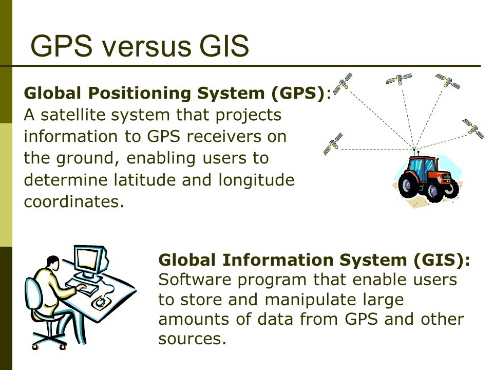 gps vs gis Official us government information about the global positioning system (gps) and related topics.