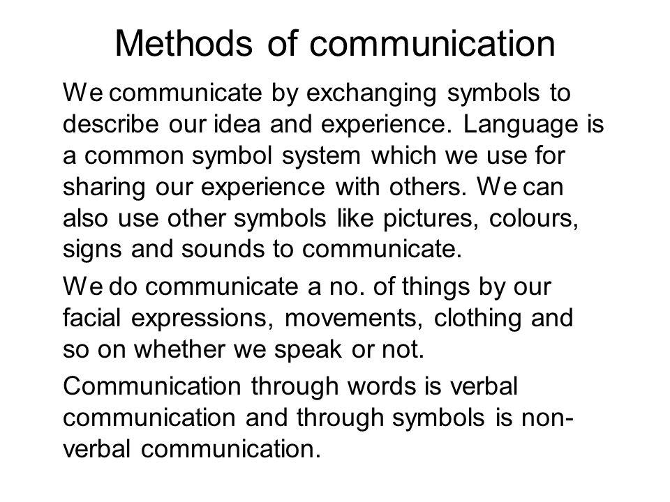 Methods Of Communication Ppt Video Online Download