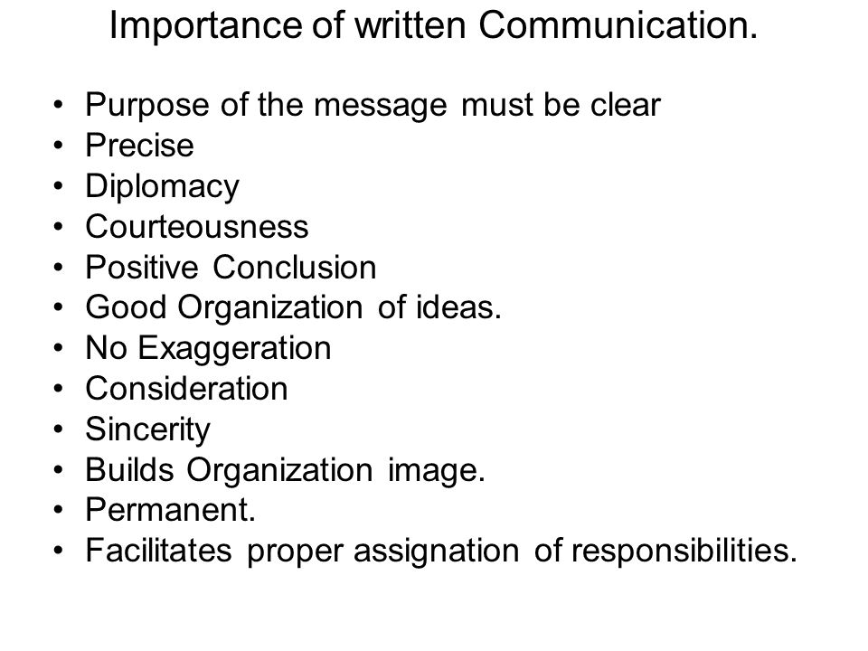 conclusion important of communication