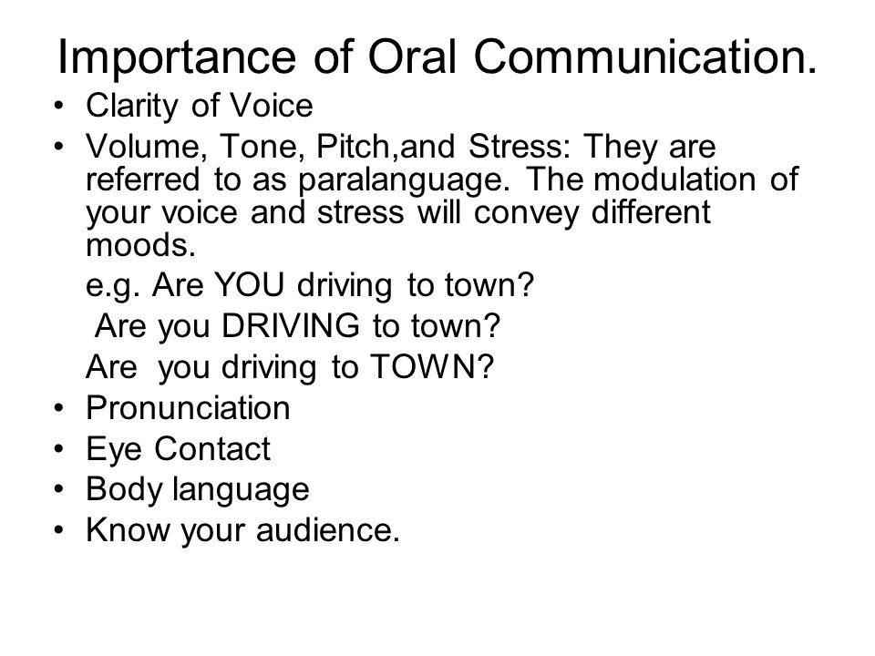 oral communications Oral communication is the process of expressing information or ideas by word of  mouth learn more about the types and benefits of oral.