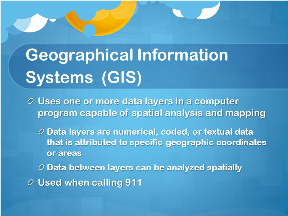 GPS/GIS Information Systems Technology Program