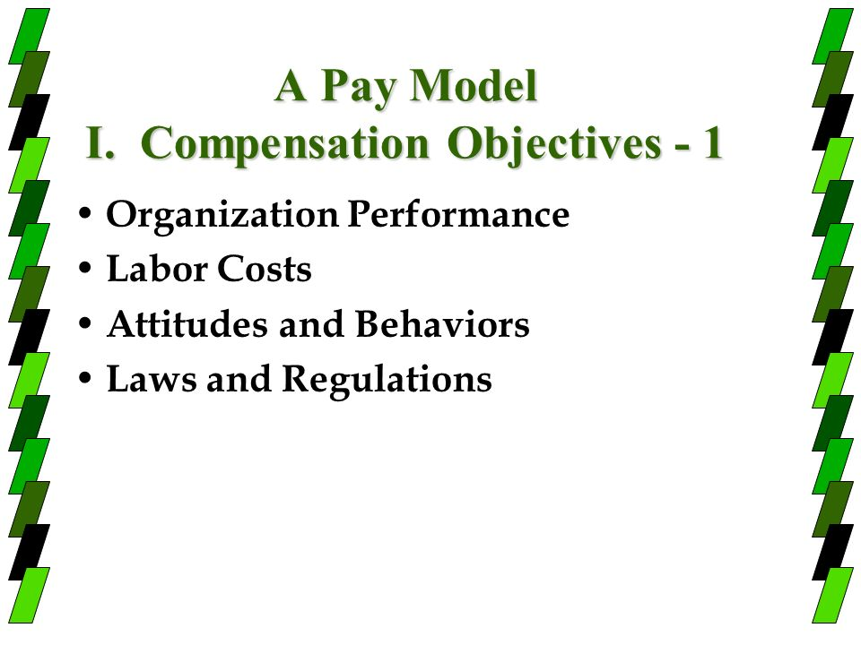 A Pay Model I. Compensation Objectives - 1