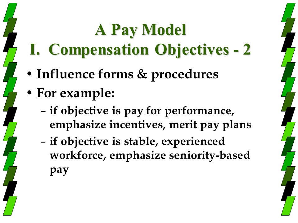 A Pay Model I. Compensation Objectives - 2