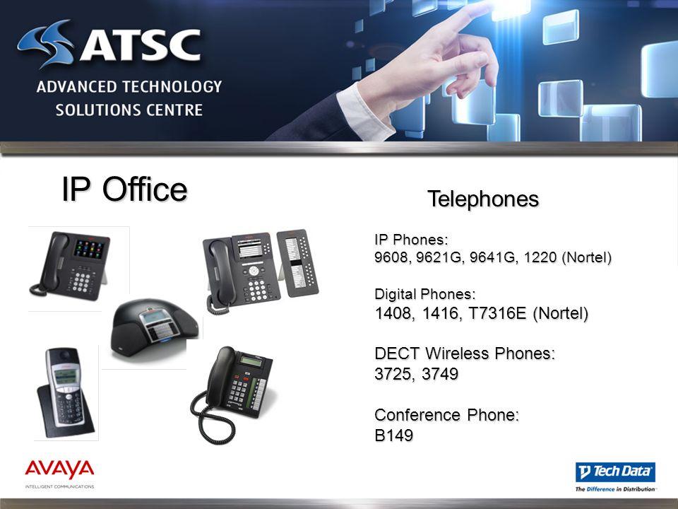 IP Office Telephones 1408, 1416, T7316E (Nortel) DECT Wireless Phones: