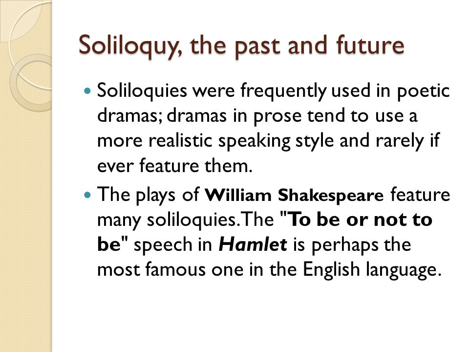 The use of soliloquies in macbeth
