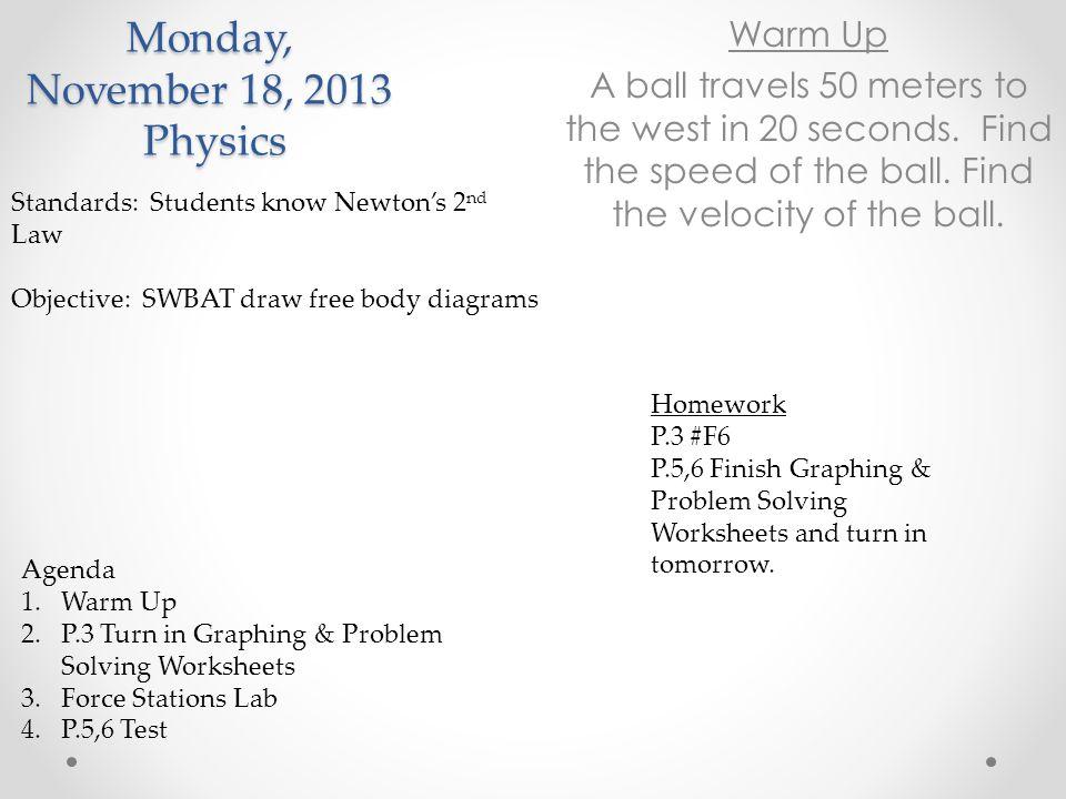 Monday, November 18, 2013 Physics