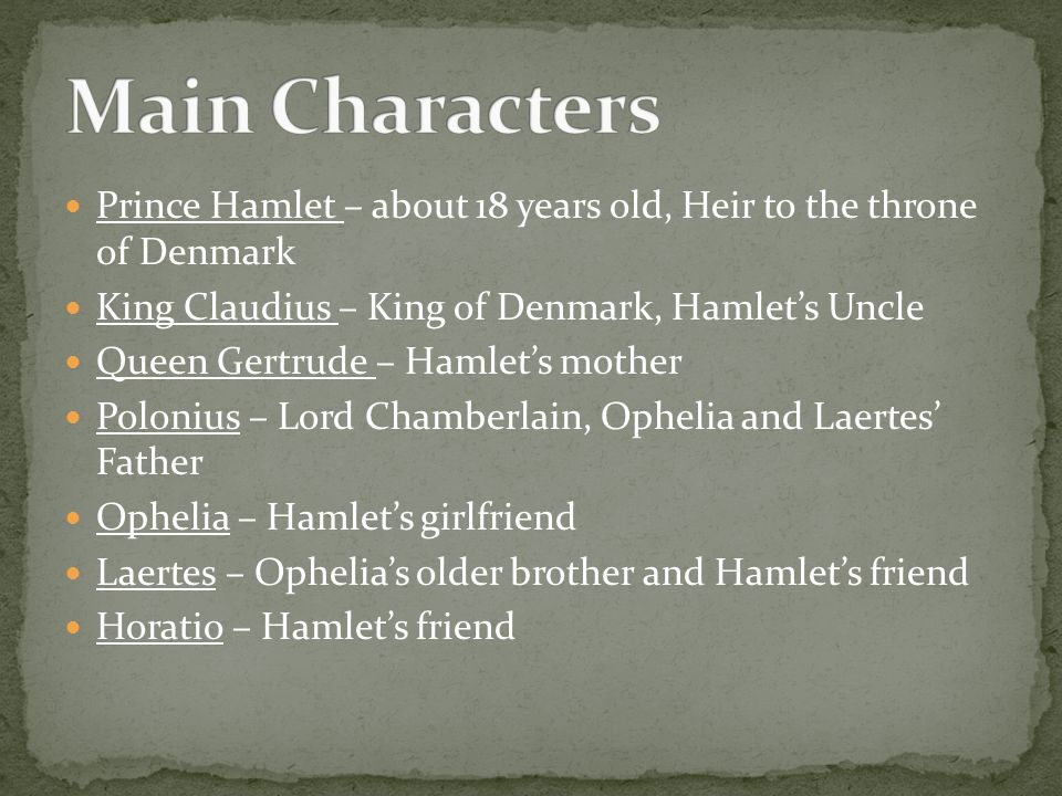 characters in hamlet and frightening ophelia Start studying hamlet learn  in particular allows them to portray powerful emotions voiced by strong characters  when hamlet refers to ophelia as a.