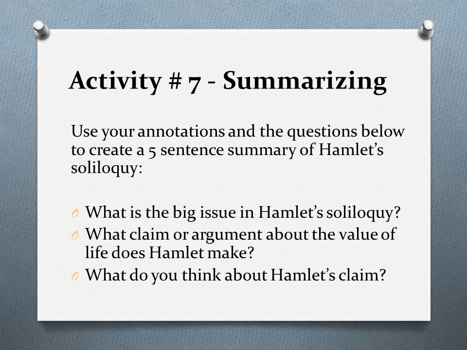 soliloquies essay the meaning of hamlets soliloquy Hamlet's synopsis, analysis, and all seven soliloquies meaning and concept of each of hamlet's that soliloquy in these seven soliloquies, hamlet.