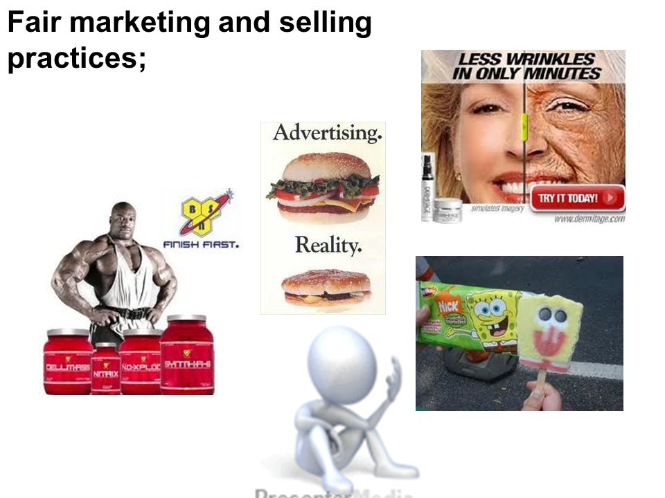 Fair marketing and selling practices;