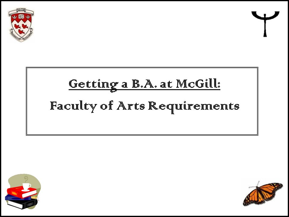 Faculty of Arts Requirements