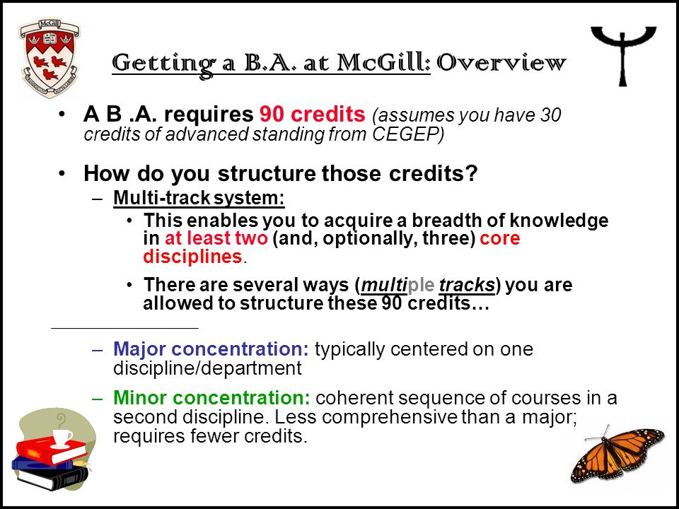Getting a B.A. at McGill: Overview