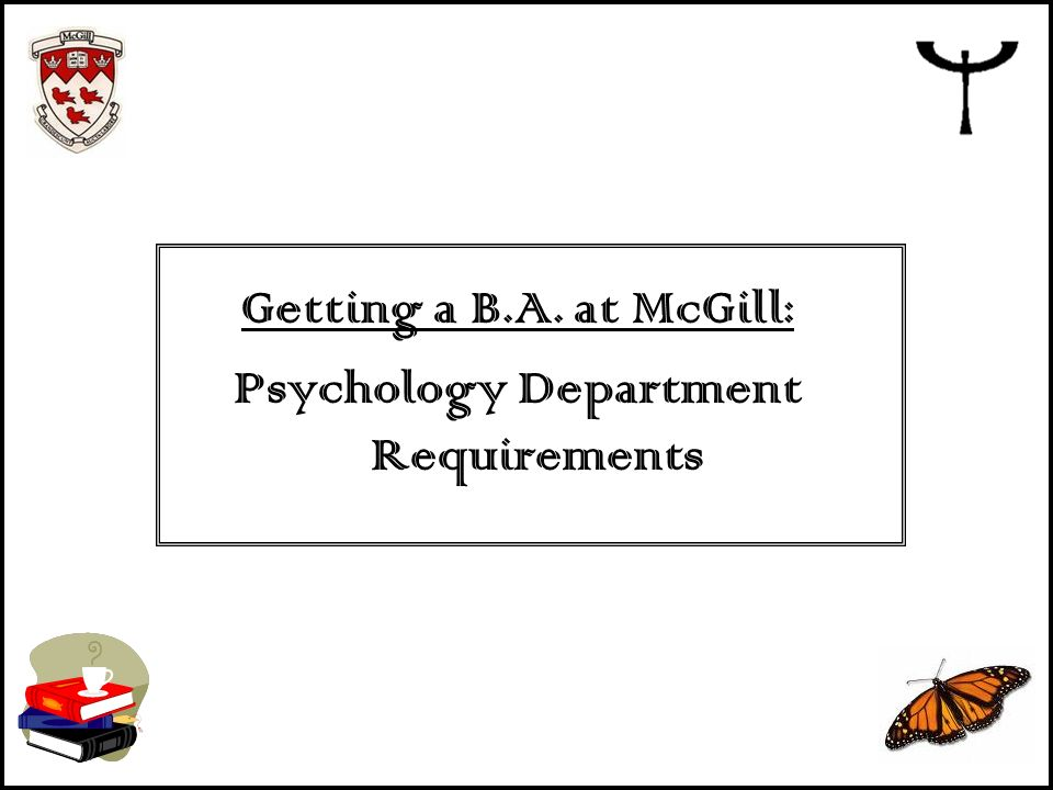 Psychology Department Requirements