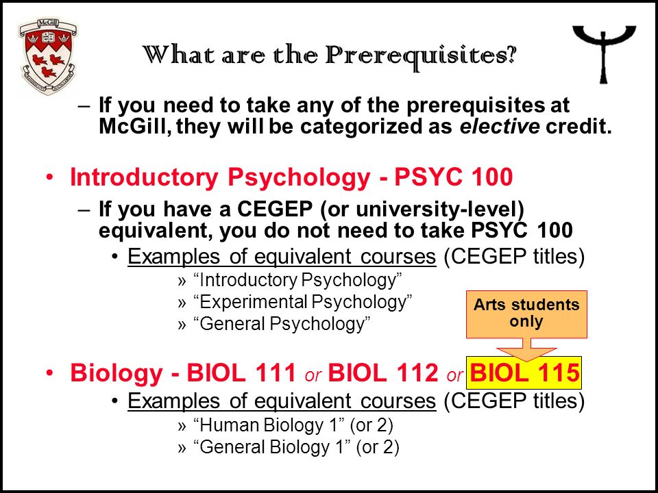 What are the Prerequisites