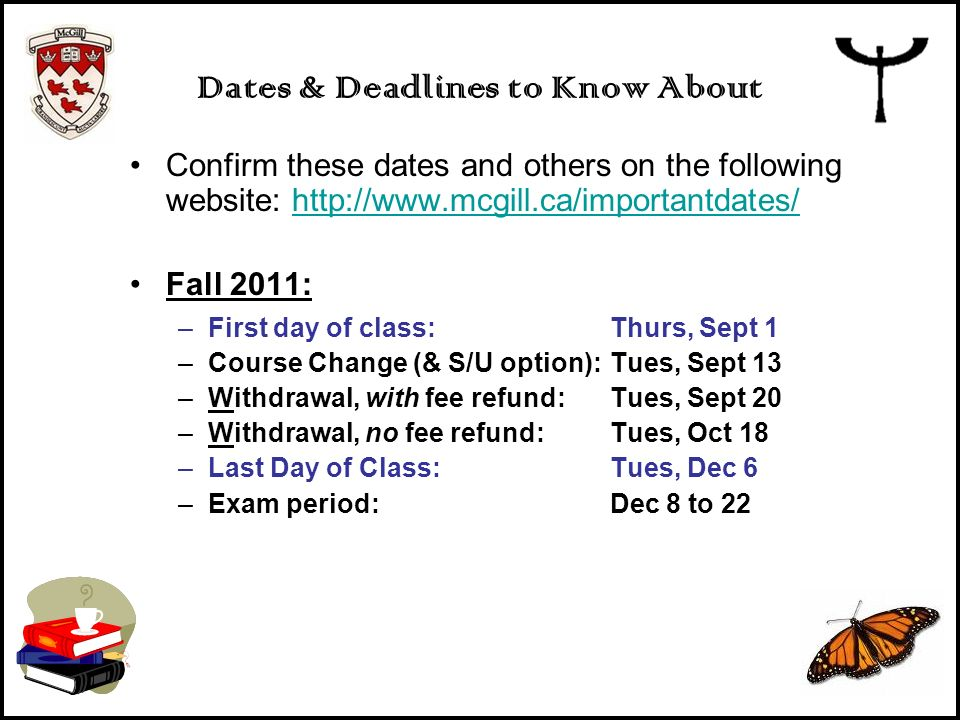 Dates & Deadlines to Know About
