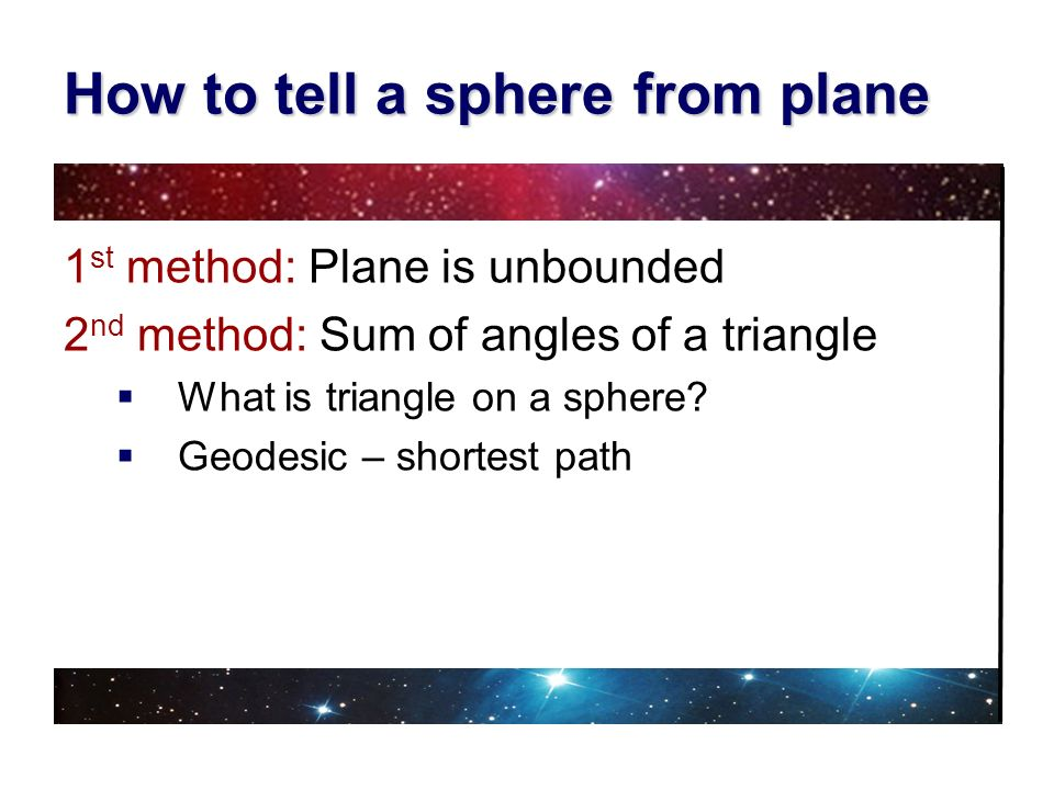 How to tell a sphere from plane