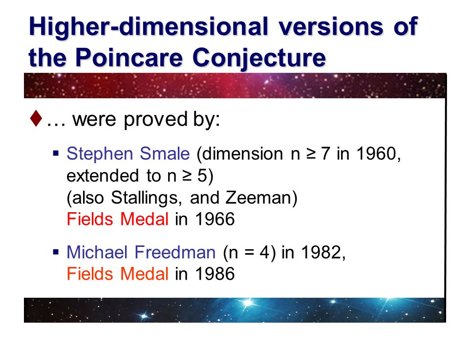 Higher-dimensional versions of the Poincare Conjecture