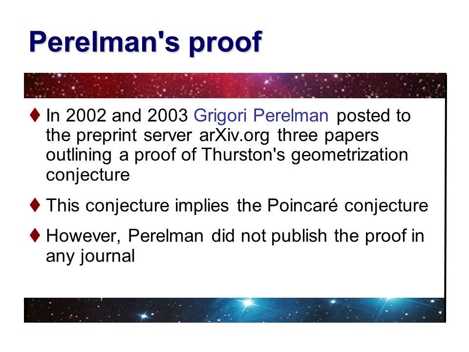 Perelman s proof
