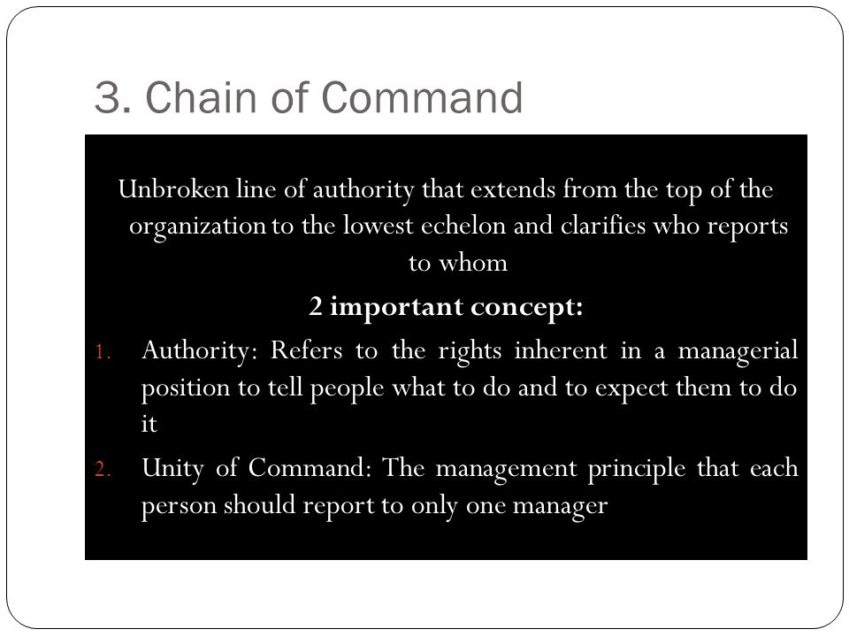3. Chain of Command