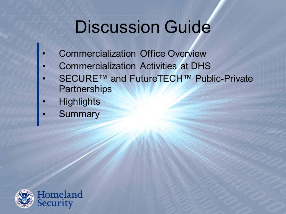 Discussion Guide Commercialization Office Overview