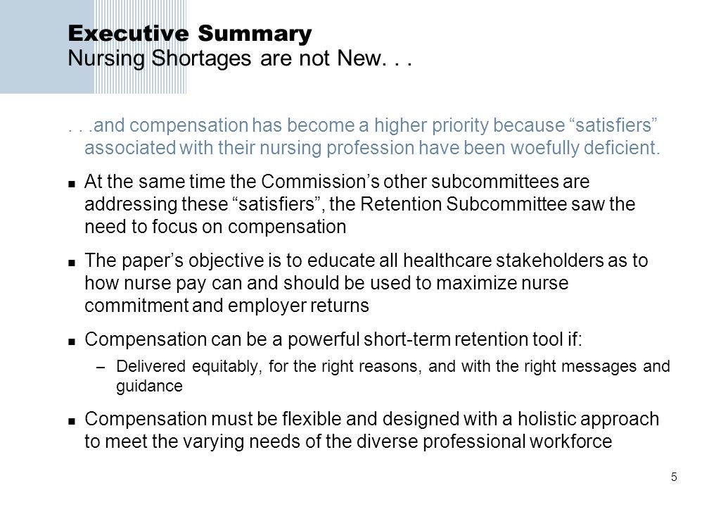 executive summary nursing Vanderbilt university – online master's in nursing leadership executive  summary vanderbilt university is an independent private liberal arts college  based in.