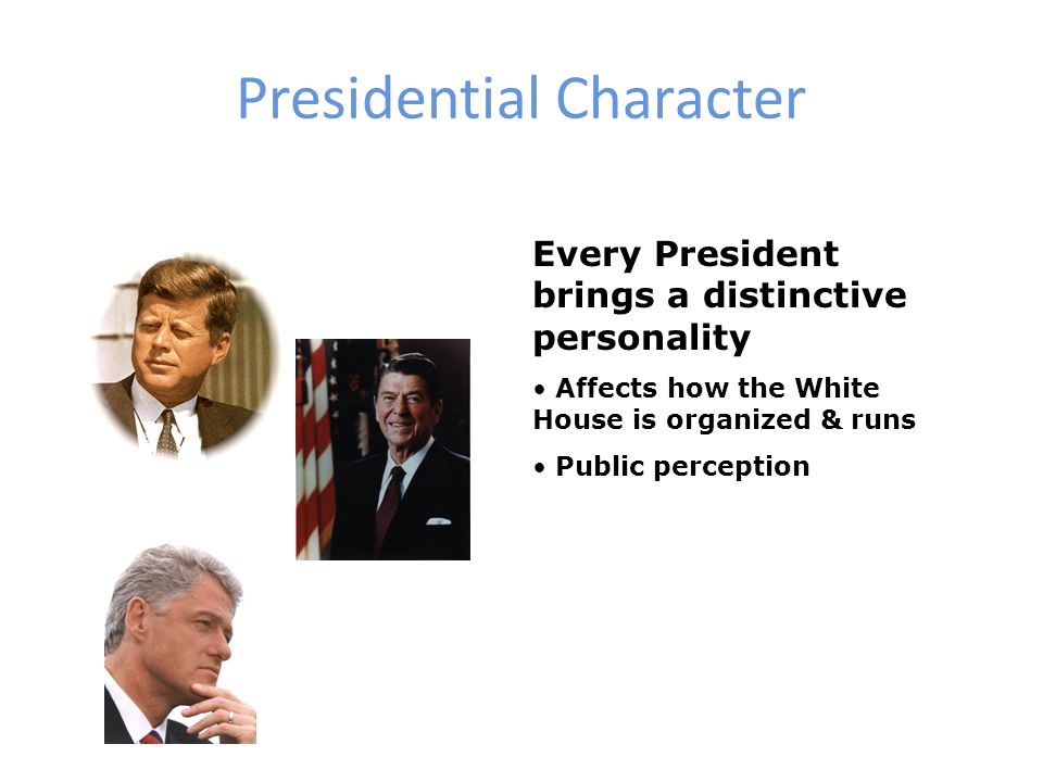 What's a presidential character worth?