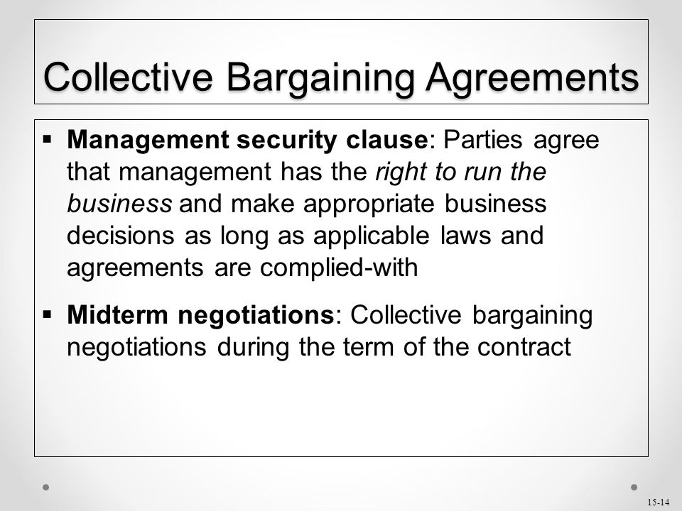 labor relations and collective bargaining agreements Agc provides master labor agreements and negotiated contracts between agc and the five basic crafts current collective-bargaining agreements and  labor-relations.